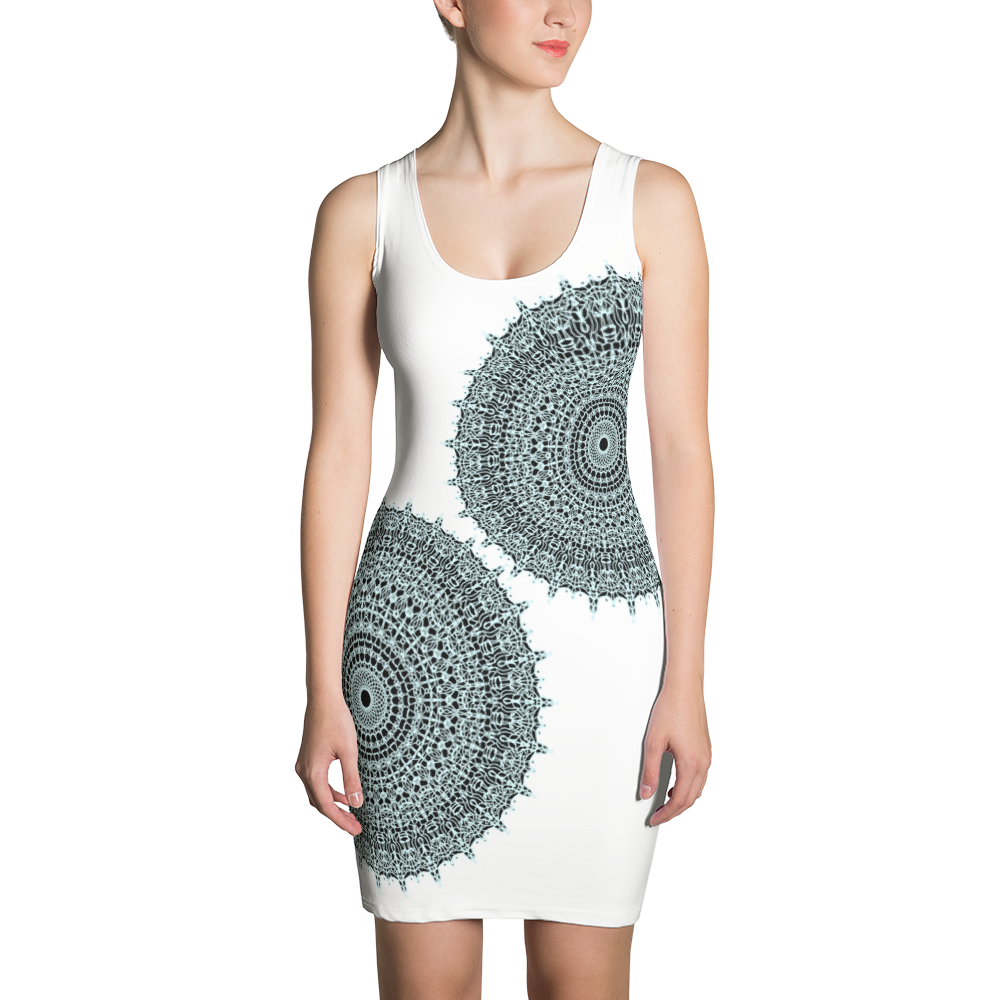 f2f082cb48 Sublimation Cut & Sew Dress - radial art by Iris Rosenberg - Art ...